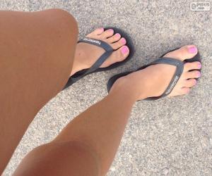 Układanka Nogi i stopy