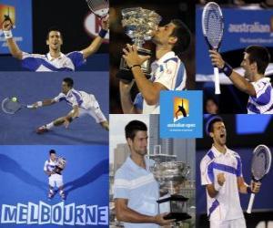 Układanka Novak Djokovic 2011 Australia Open mistrz