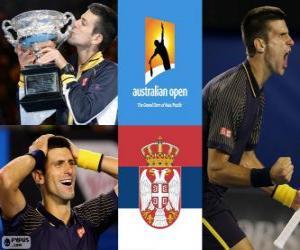 Układanka Novak Djokovic otwarte mistrz Australii 2013