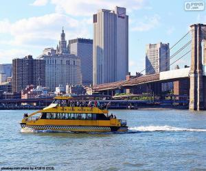 Układanka Nowy Jork wody taksówek
