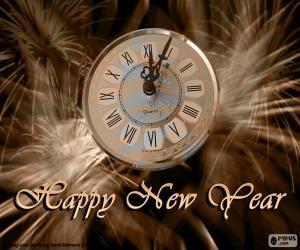 Układanka Nowy rok zegar
