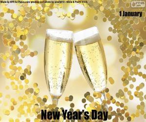 Układanka Nowy Rok