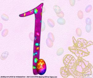 Układanka Numer jeden Wielkanocy