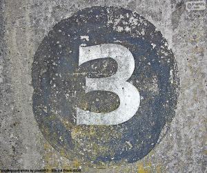 Układanka Numer trzy białe