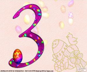 Układanka Numer trzy Wielkanocy