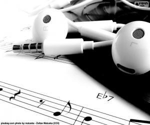 Układanka Nuty i słuchawki