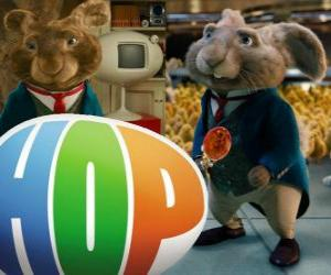 Układanka Obecny Wielkanoc Króliczek i ojcem EB. Hop, film
