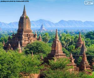 Układanka Obiekty sakralne z Bagan, Birma