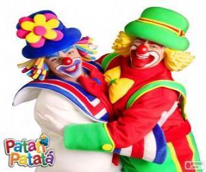 Układanka Objęciach klaunów, Patatí i Patatá