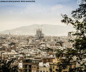 Układanka Obraz z Barcelona