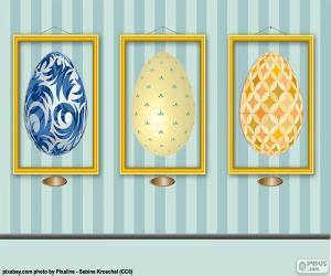 Układanka Obrazki wielkanocne jajka