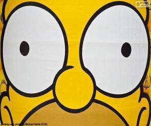 Układanka Oczy z Homer Simpson