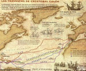 Układanka Odkrycie Ameryki Kolumbus