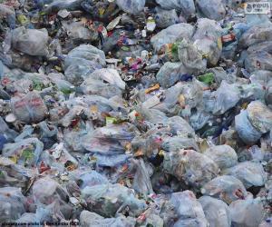 Układanka Odpady z gospodarstw domowych
