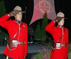Układanka Oficer policji z Kanadyjska Królewska Policja Konna