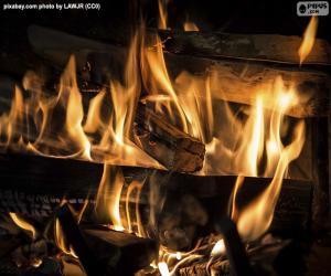 Układanka Ogień