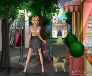 Układanka Oh My Dollz, spacery z psem
