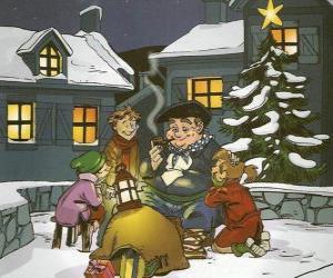 Układanka Olentzero jest postać, która przynosi prezenty na Boże Narodzenie w Kraju Basków i Nawarry