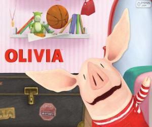 Układanka Olivia mały świnia