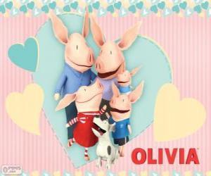 Układanka Olivia prosiąt z rodziną