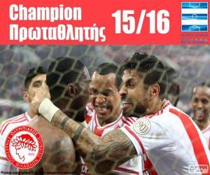 Układanka Olympiacos FC mistrz 2015-2016