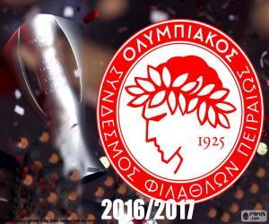 Układanka Olympiacos FC mistrz 2016-2017