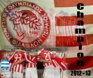 Układanka Olympiakos Pireus, Super League 2012-2013 mistrz
