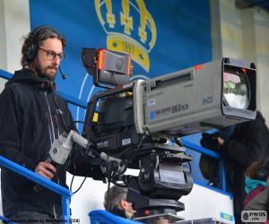 Układanka Operator kamery telewizyjne