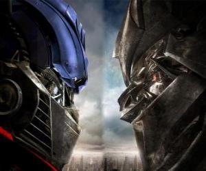 Układanka Optimus vs Megatron