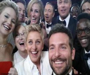 Układanka Oskary 2014, selfie