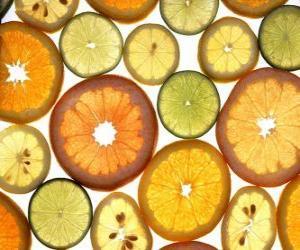 Układanka Owoce cytrusowe