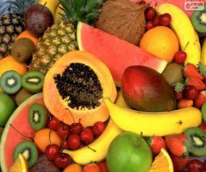 Układanka Owoce tropikalne
