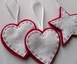 Układanka Ozdoby w kształcie serc i gwiazd