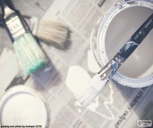 Układanka Pędzle i malarstwo