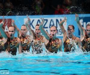 Układanka Pływanie synchroniczne