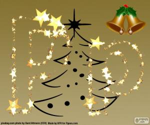 Układanka P list Boże Narodzenie