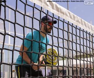 Układanka Padel tenisista w necie