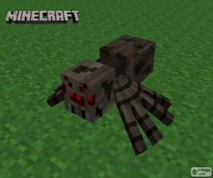 Układanka Pająk, jedna z istot Minecraft