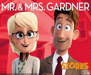 Układanka Pan i Pani Gardner, Bociany
