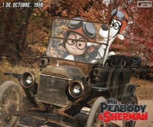 Układanka Pan Peabody i Sherman w jego podróży do 1908 roku