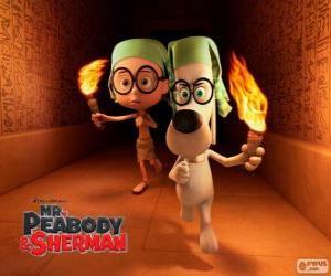 Układanka Pan Peabody i Sherman w jednym z ich przygody w Egipcie