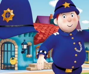Układanka Pan tyrać jest policjant miasta zabawek
