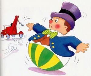 Układanka Pan Wobbly, śmieszny człowiek z okrągłej podstawie, że nie może kłamać