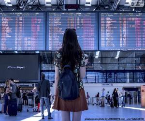 Układanka Panel Informacje Lotnisko