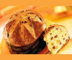 Układanka Panettone to tradycyjny deser Boże Narodzenie w Mediolanie (Włochy).