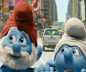 Układanka Papa Smerf i Ciamajda, ulice Manhattanu. - Smerfy, film -
