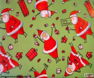 Układanka Papier Świętego Mikołaja