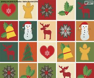 Układanka Papier z motywem bożonarodzeniowym