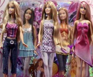 Układanka Paradzie lalek Barbie