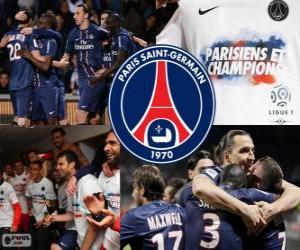 Układanka Paris Saint-Germain, PSG, Ligue 1 mistrz 2012-2013, Francja Piłka nożna